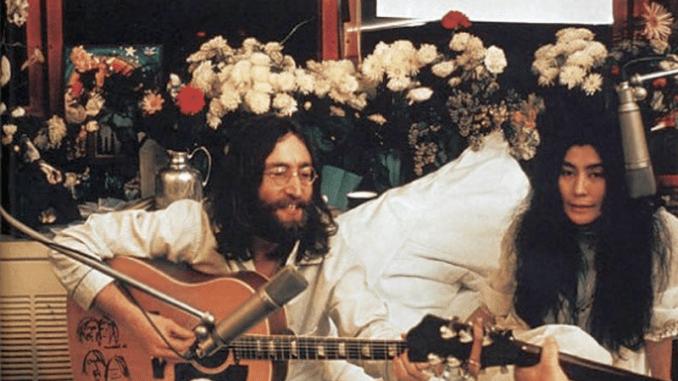 John and Yoko Photo (Montreal Bed-In, 1969)
