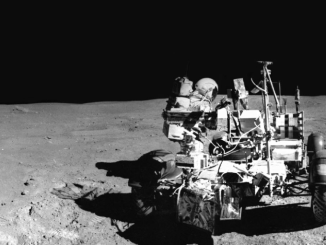 Lunar Rover Panorama Photo