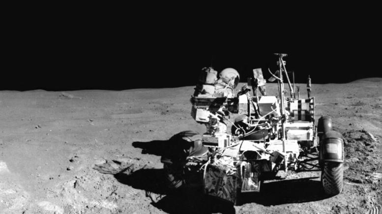 Lunar Rover Panorama Photo