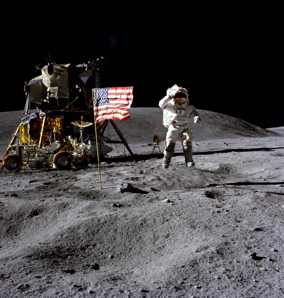 John Young On The Moon (Apollo 16 Photo)
