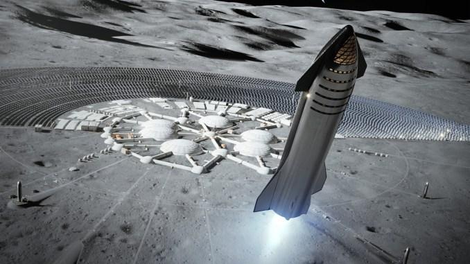 SpaceX Moon Lander (Artwork)