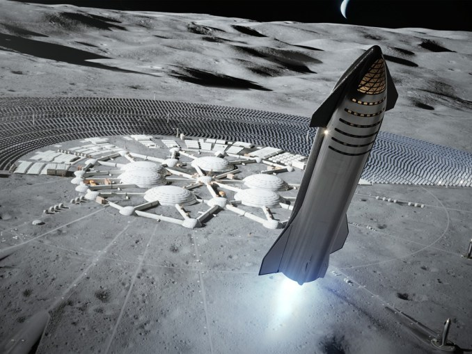 SpaceX Moon Lander (Artwork)