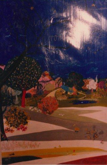 Aditi Raychoudhury. The Long and Winding Road. 1986. Gouache on Paper.