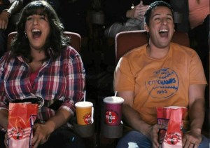 Jack and Jill movie still theater laughing