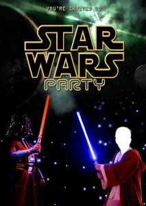 Star Wars party Invitation - blank