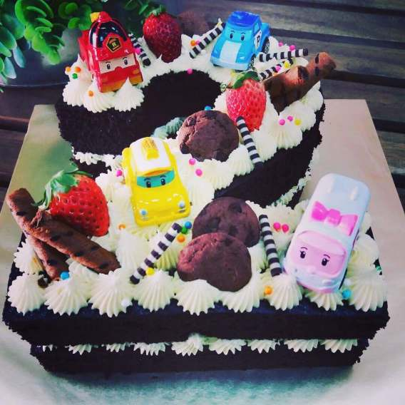 Kek monogram Ajwa bakery