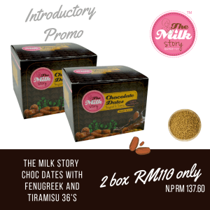 (Set of 2) Milk Booster The Milk Story Choc Dates with Fenugreek and Tiramisu 36's