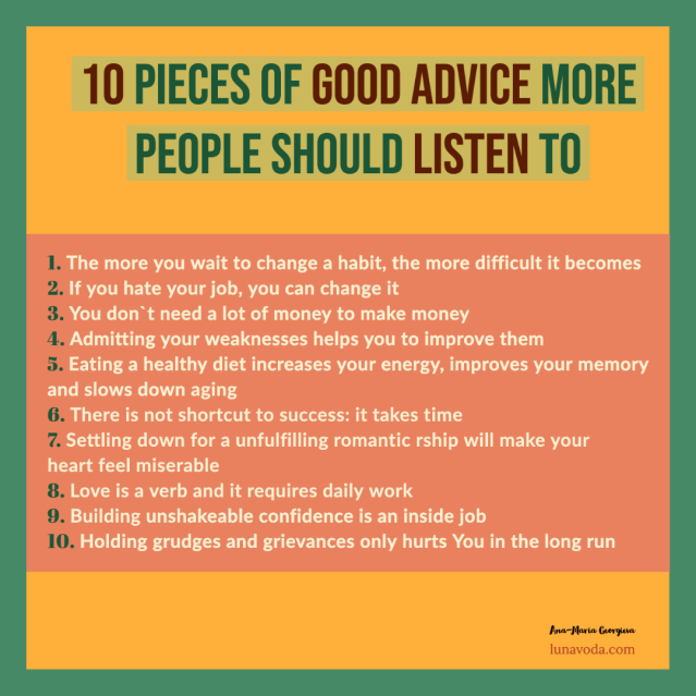 10 tips of good advice