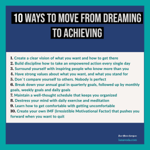 10 Ways To Become an Achiever