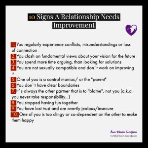10 signs a relationship needs improvement