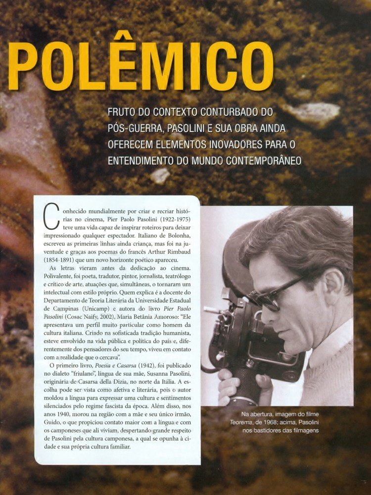 INFLUÊNCIAS DE PIER PAOLO PASOLINI (3/6)