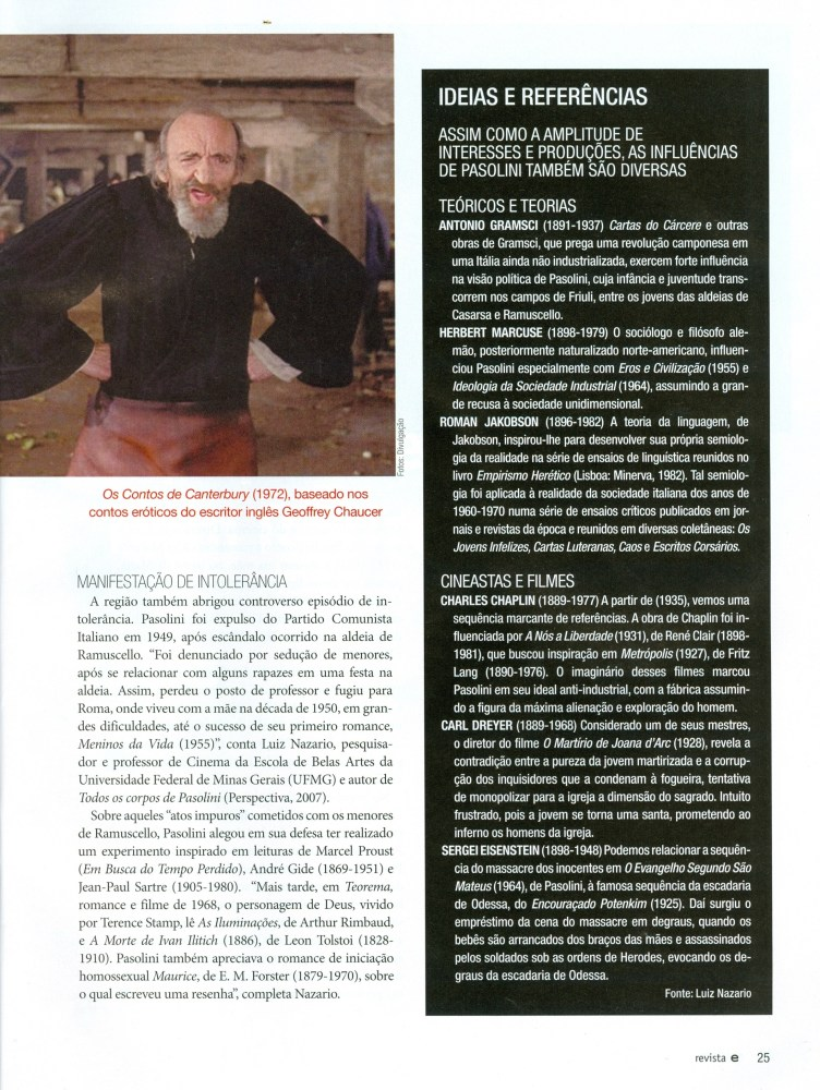 INFLUÊNCIAS DE PIER PAOLO PASOLINI (5/6)