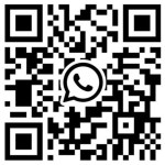 QR code Whatsapp page nous contacter