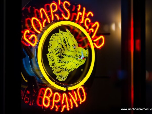 boarshead neon sign - image