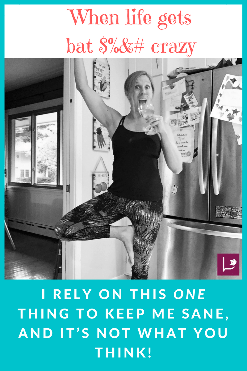 A good option for moms to keep their sanity AND fit in a workout at home. #yoga #sahm #mom #fitness #sanity