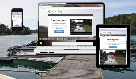Lundegrend båtlag på PC, mobil og nettbrett
