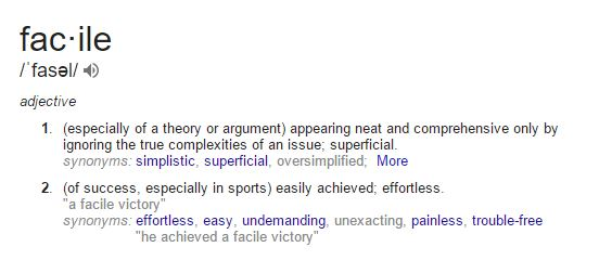 Definition: facile