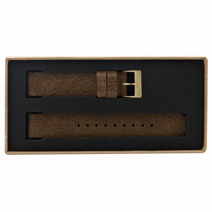 Vintage Brown Leather Strap with Gold Clasp - 9084