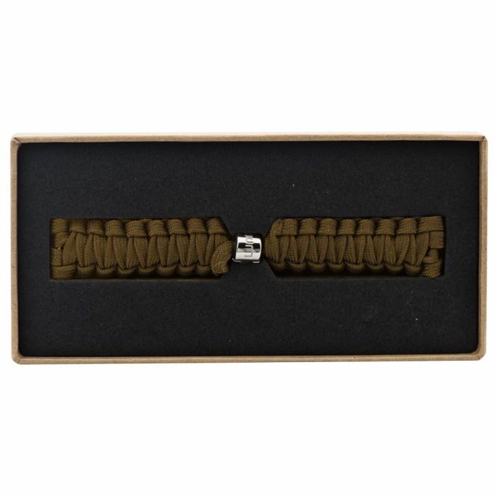 Hazelnut Braided Strap with Silver Clasp - 9144