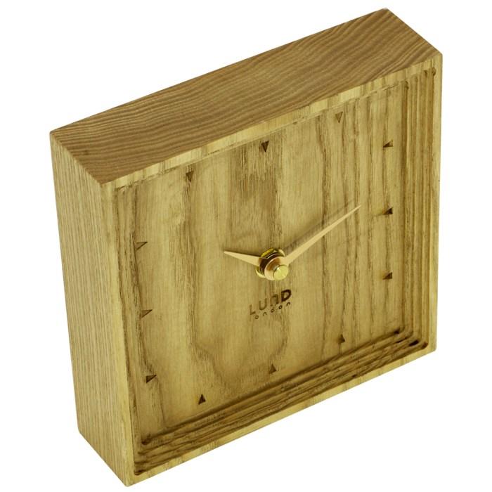 Pure Oak Block Mantel Clock - 6019