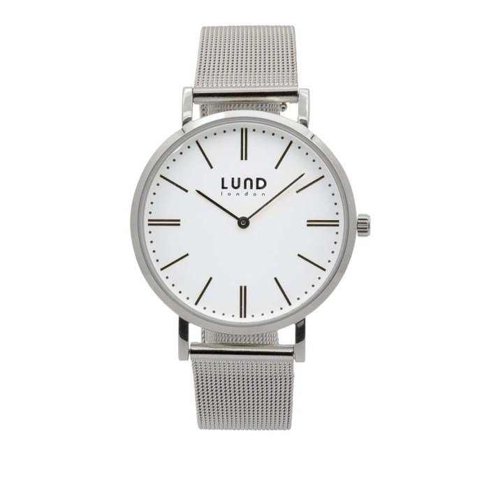 Silver Metal Mesh Watch - 39mm