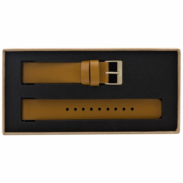 Tan Leather Strap with Gold Clasp - 9082