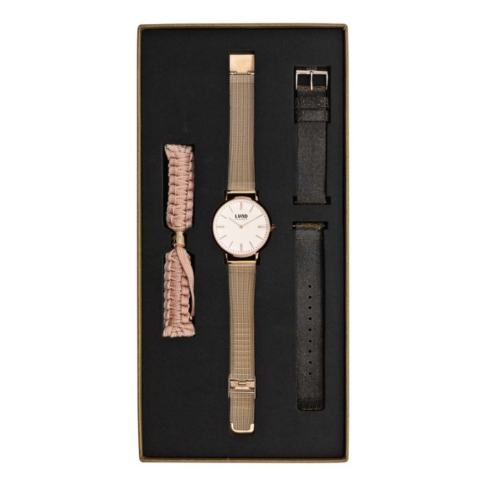 Set No 4 - 39mm Rose Gold Tonal Watch Set