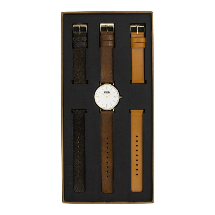 Set No 8 - 39mm Leather Watch Set
