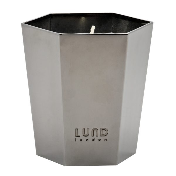 Lund Luxe Lidded Candle - Gunmetal - 5268