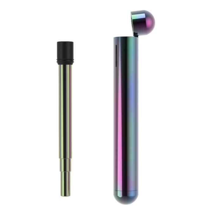 Telescopic Stainless Steel Straw with Oil Slick Case