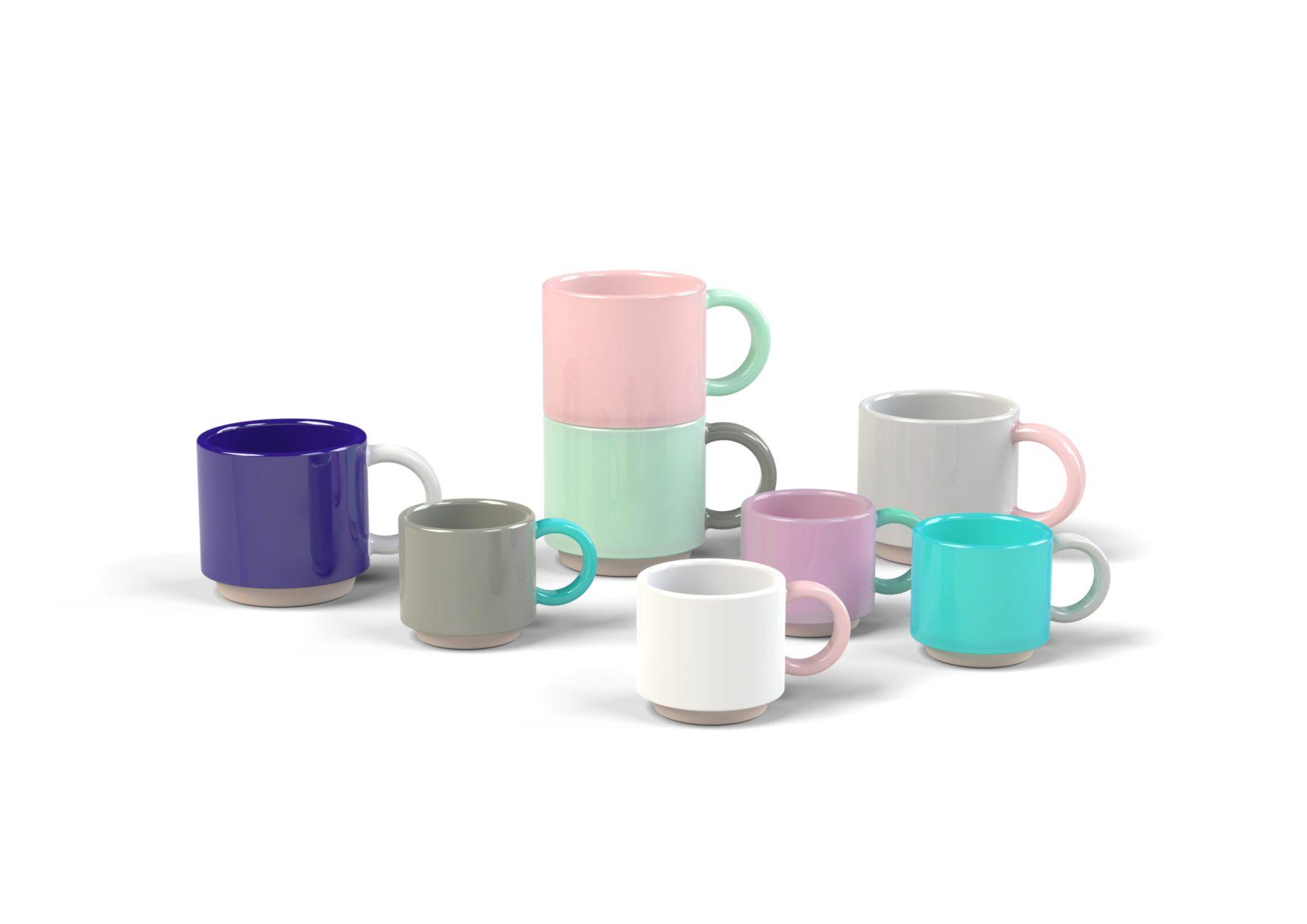 Skittle Stacking and Espresso Mug Group Shot