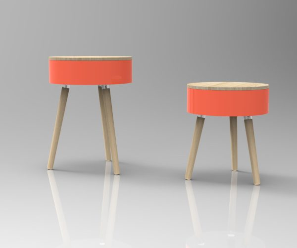 Coral Skittle Table and Jumbo