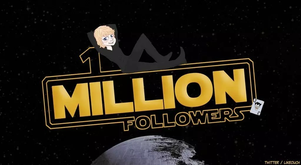 Luke skywalker ou mark hamill a 1 millions de followers sur twitter
