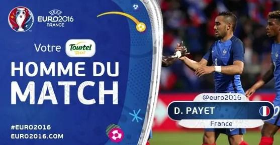 La France gagne le 1er match de l'euro 2016 2-1 contre la roumanie