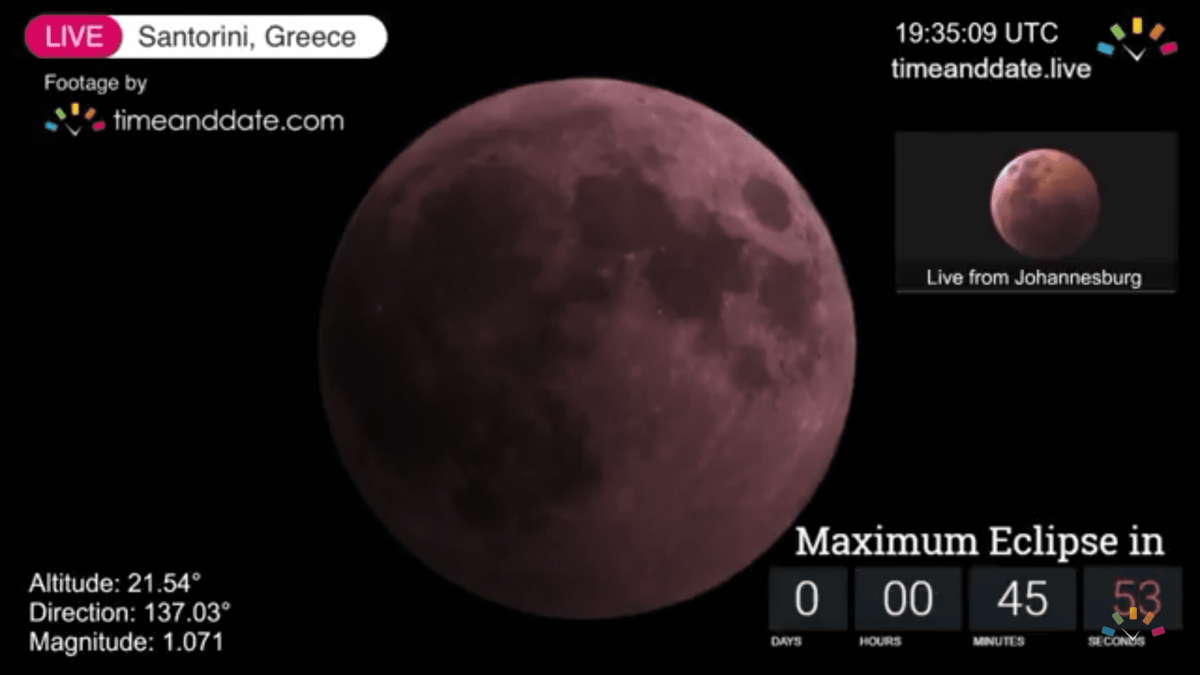 Eclipse de lune 2018 en direct #eclipsedelune #lune