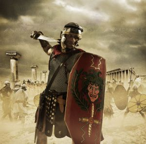 Romain soldat légionnaire