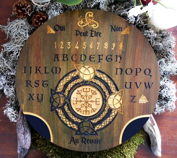 ouija spiritisme gravure sur bois