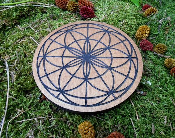 fleur de vie zen bois gravure