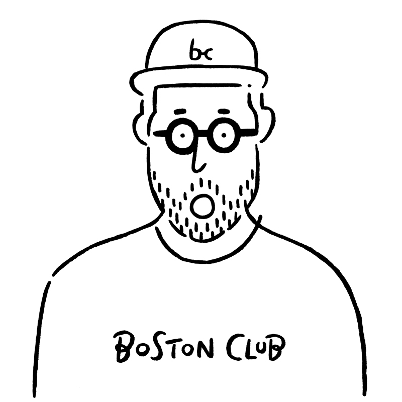 logo lunettes boston club