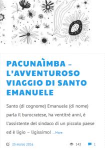 Pacunaìmba l'avventuroso viaggio di santo emanuele