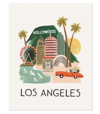 Rifle Paper Co-Los Angeles Print