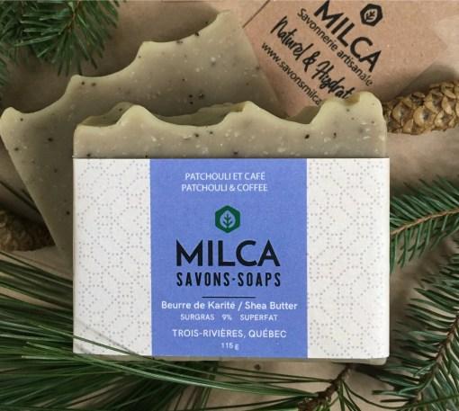 Savon patchouliet et cafe MILCA