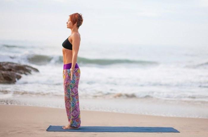 йога от стресса - тадасана