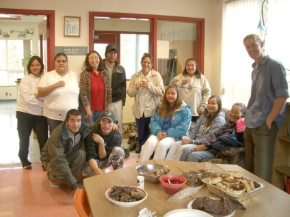 First Nations lunch with students, Arctic Canada