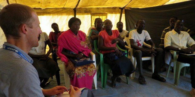 social mobilisers, Protection of Civilians camp, South Sudan.