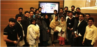 Virtual workshop with students in western Pakistan