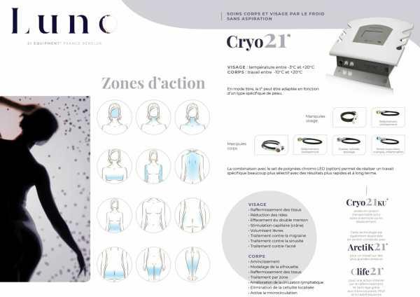 Présentation du soin de cryothérapie Cryo21