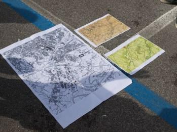L'itinerario si confronta su carte di anni diversi e con storie diverse.