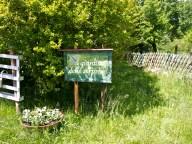 Cartello di presentazione dell'orto