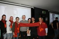 Il premio Oscar Nicola Piovani e il Presidente del Roma Club Montecarlo con alcuni rappresentati dei Lupi di Londra nella nostra tana londinese